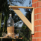 Use the spare bracket to decorate your home with either a hanging basket or bird feeder or more!
