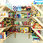 Contents:- 20 x boxes = 80 x slats (shelves), 40 x wall brackets (support) + 8 spare wall brackets.<br/> Design idea:- Utilize space and easy access by creating pantry shelving in your home to keep household goods all in one place.